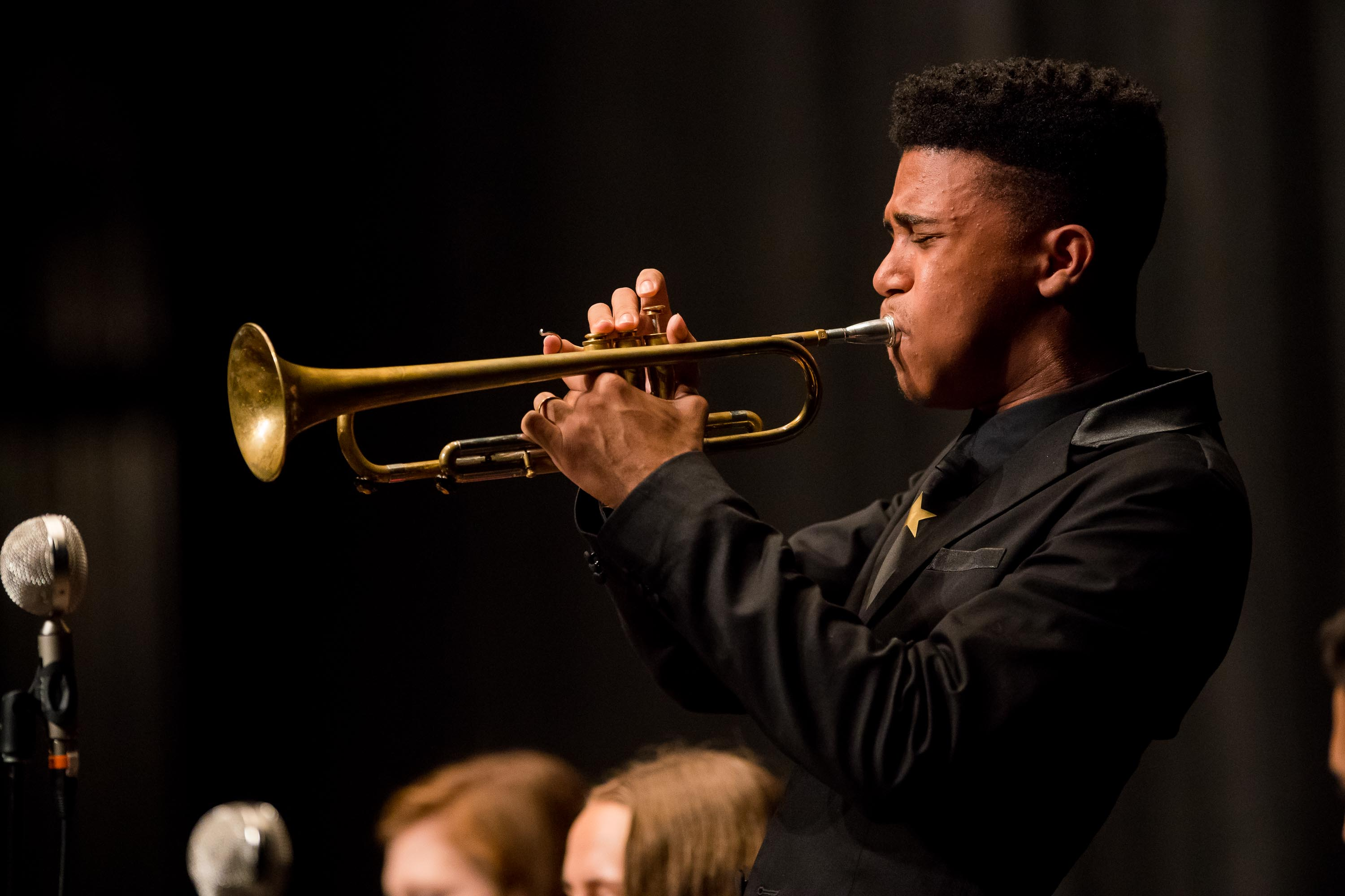 NYO Jazz Musician Plays Trumpet