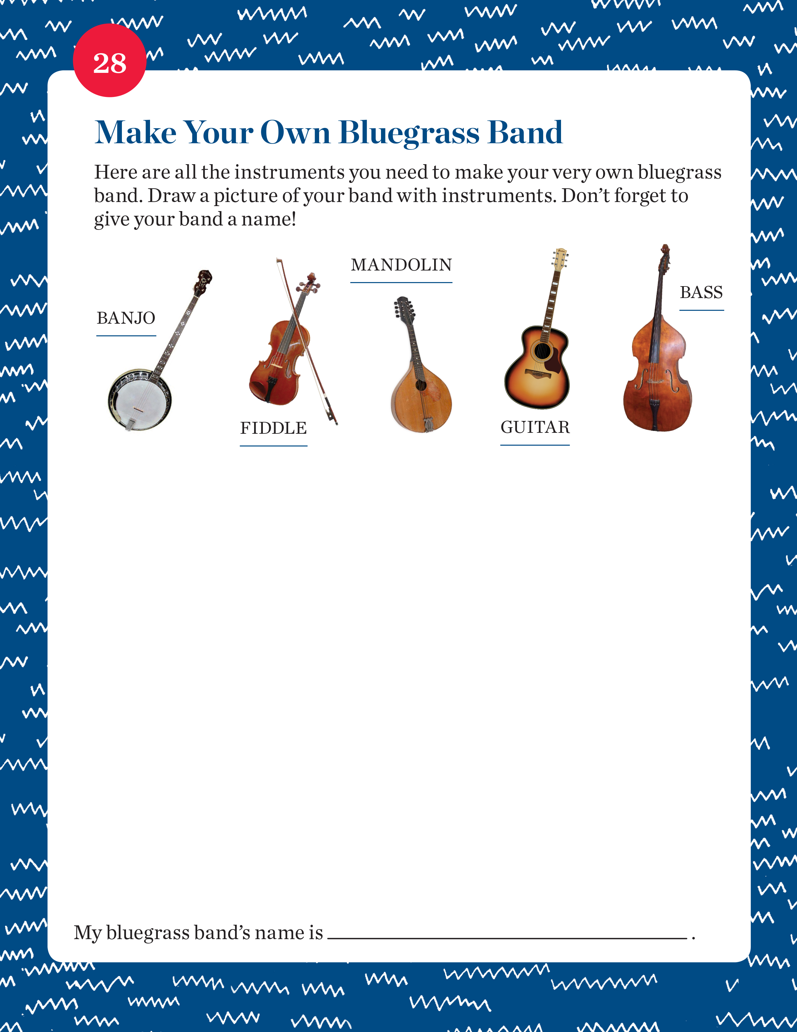 Make Your Own Bluegrass Band student activity