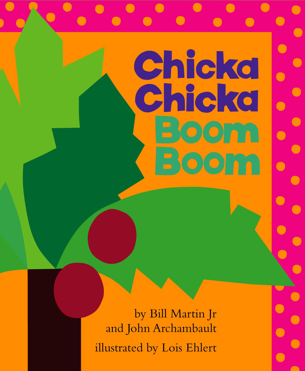 "Book cover for ""Chicka Chicka Boom Boom"" depicting a tree"