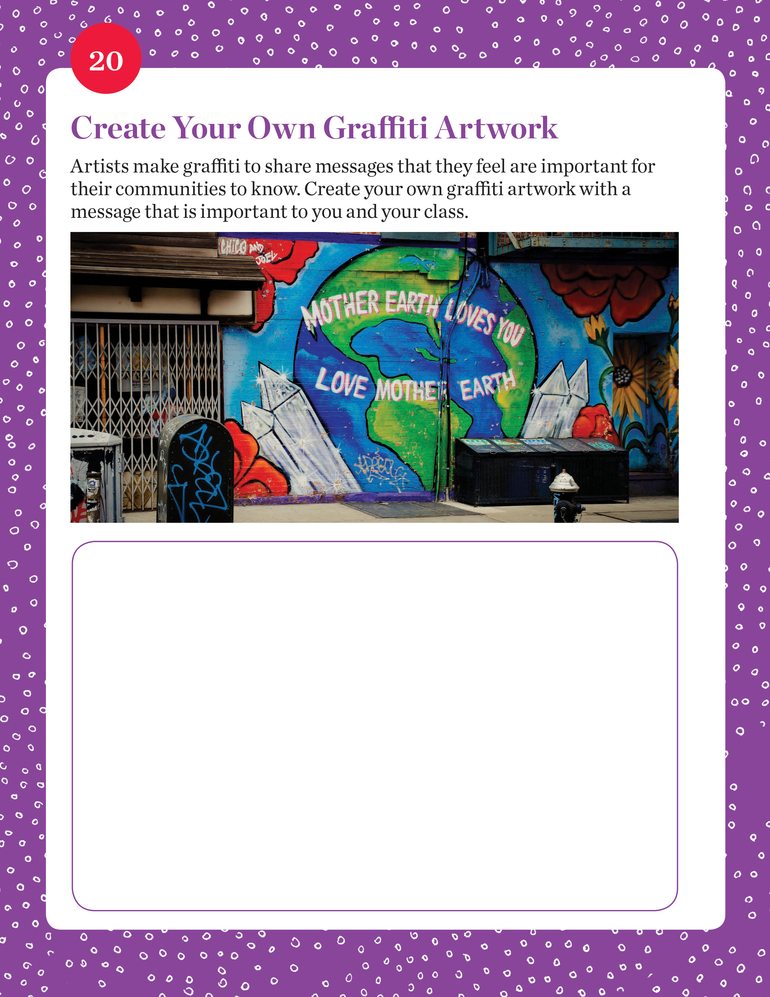 Create Your Own Graffiti Artwork student activity