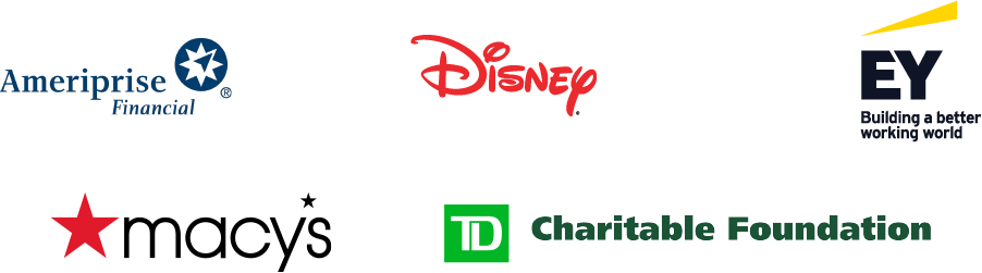 Ameriprise Financial, Disney, EY, Macy's TD Charitable Foundation