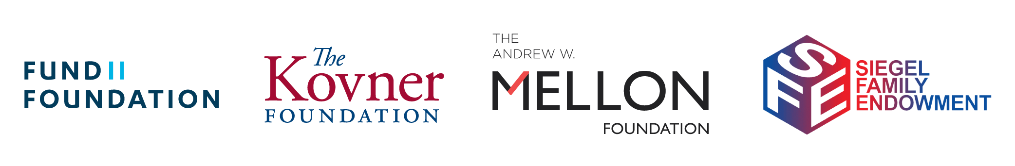 Fund II Foundation, The Kovner Foundation, The Andrew W. Mellon Foundation, Siegel Family Endowment