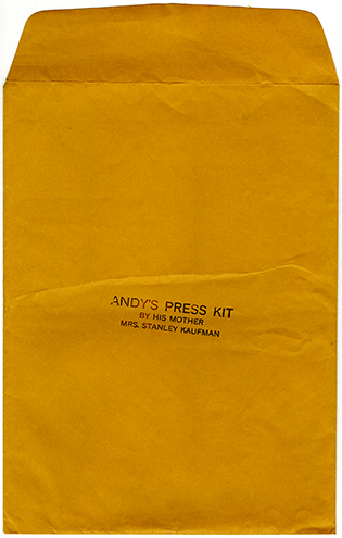 Andy Kaufman Press Kit 315