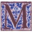 Renaissance Letter M 110x110