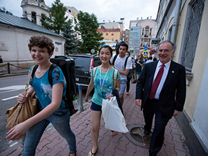 NYO with Clive in Moscow