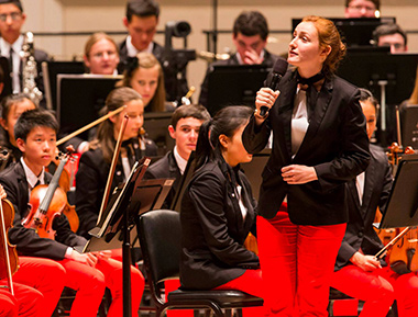 NYO Leah Meyer Carnegie Hall speech cr Chris Lee