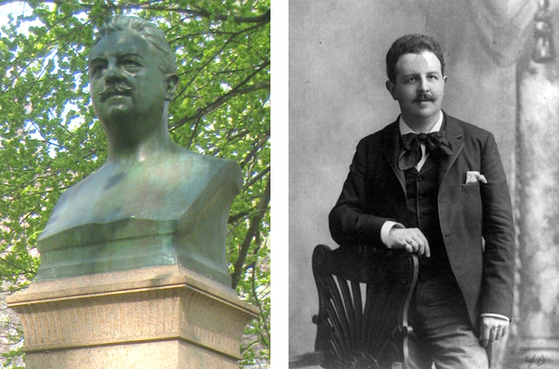 Victor Herbert Central Park bust and archival portrait