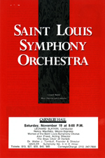 St. Louis Symphony Carngie Hall Flyers
