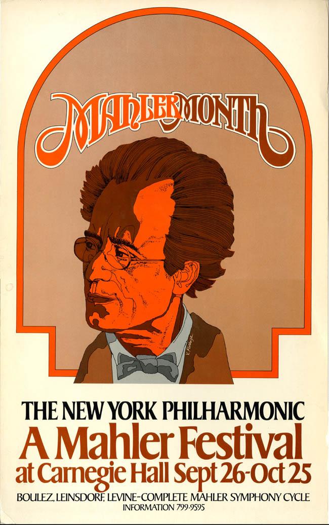 1976 Mahler Festival Poster