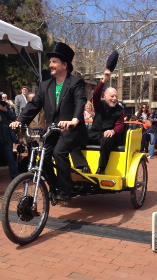 Bob Simon 100 in Pedicab