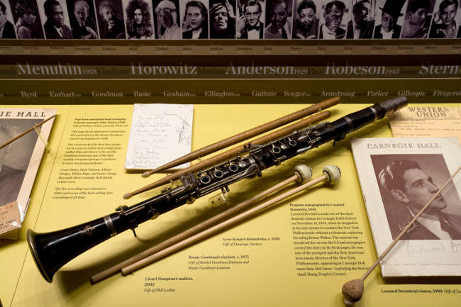 Benny Goodman Clarinet Rose Museum