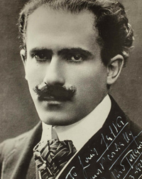 Photograph of conductor Arturo Toscanini inscribed to Carnegie Hall house manager Louis Salter, March 18, 1921.