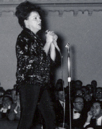 Judy Garland on stage at Carnegie Hall