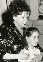 Judy Garland with her children—Lorna Luft, Joey Luft, and Liza Minnelli—at her Carnegie Hall debut, April 23, 1961.