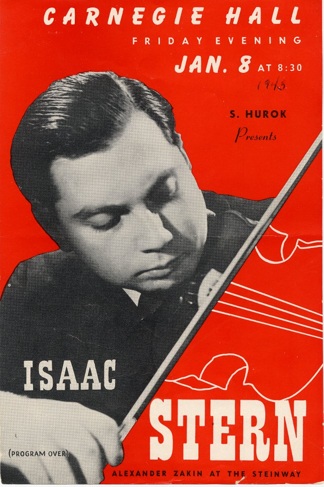 Isaac Stern Debut Flyer 1943