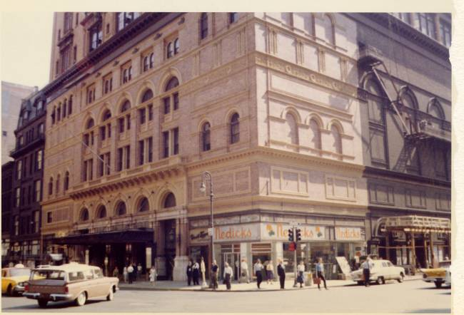 1960 Carnegie Hall Streetscape
