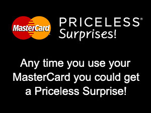 MasterCard Priceless Surprises with text