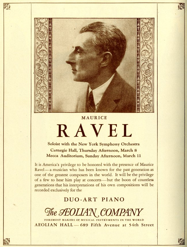 Ravel Carnegie Hall Appearance Ad