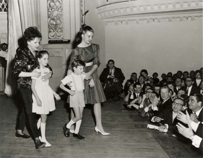 Judy Garland with Lorna, Joey, and Liza