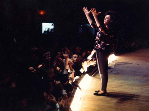 Judy Garland, April 23, 1961, Color, Portrait, Arms Aloft Thumbnail